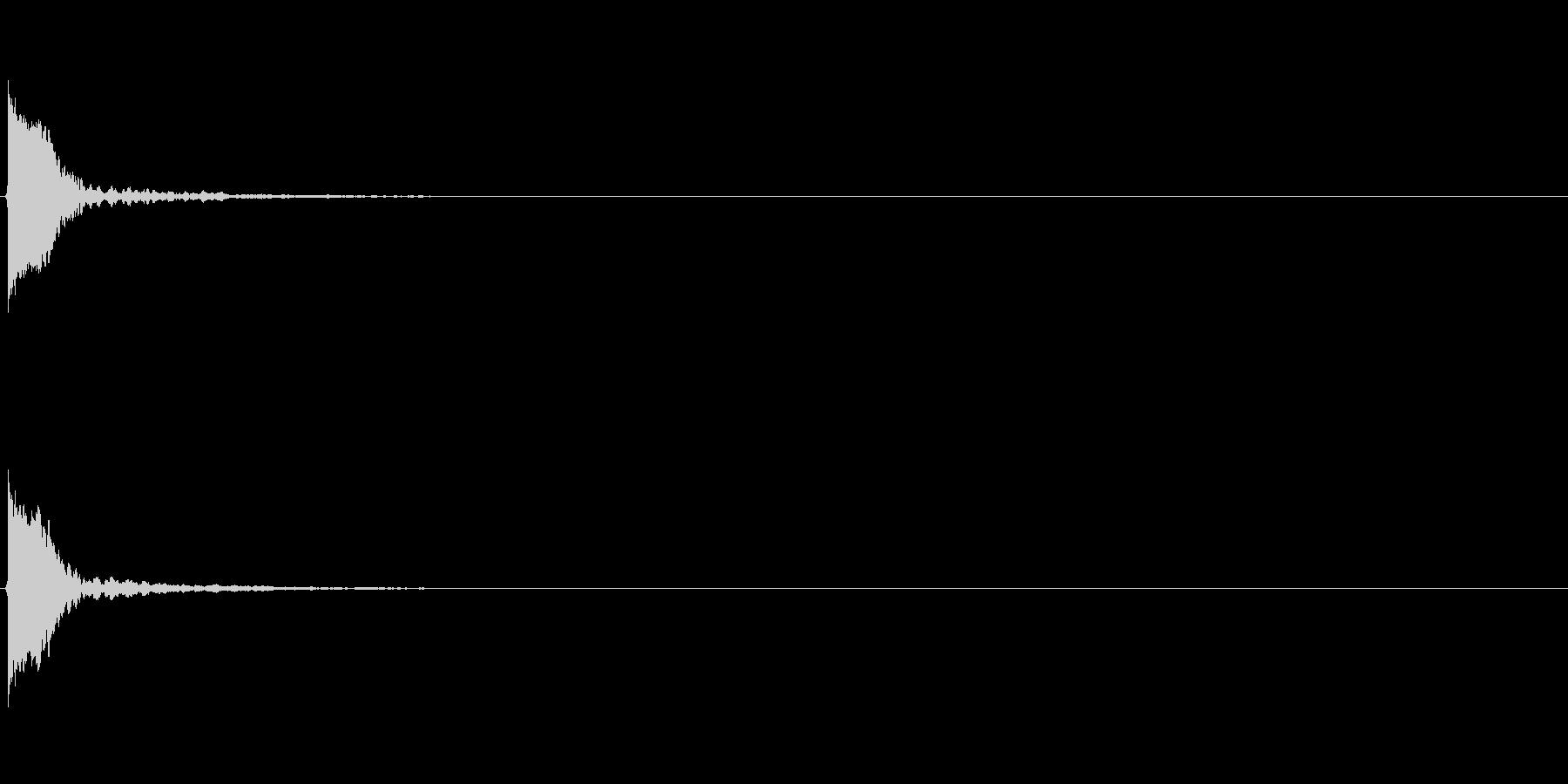 【アクセント02-3】の未再生の波形