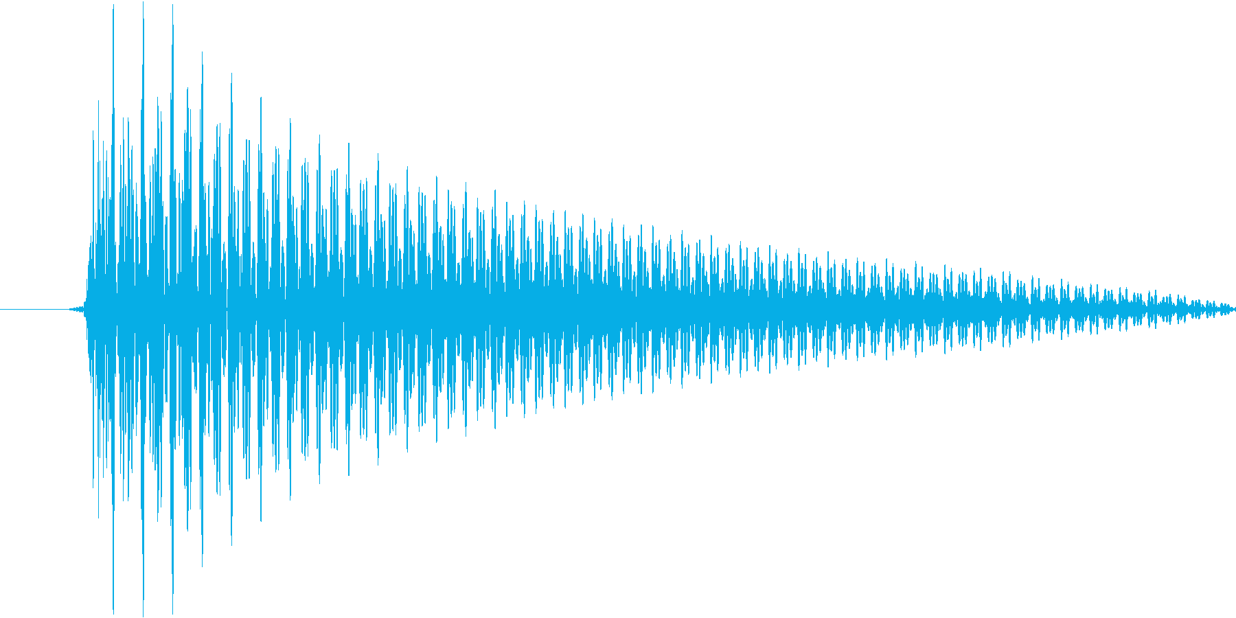 システム音(ワンコード)の再生済みの波形