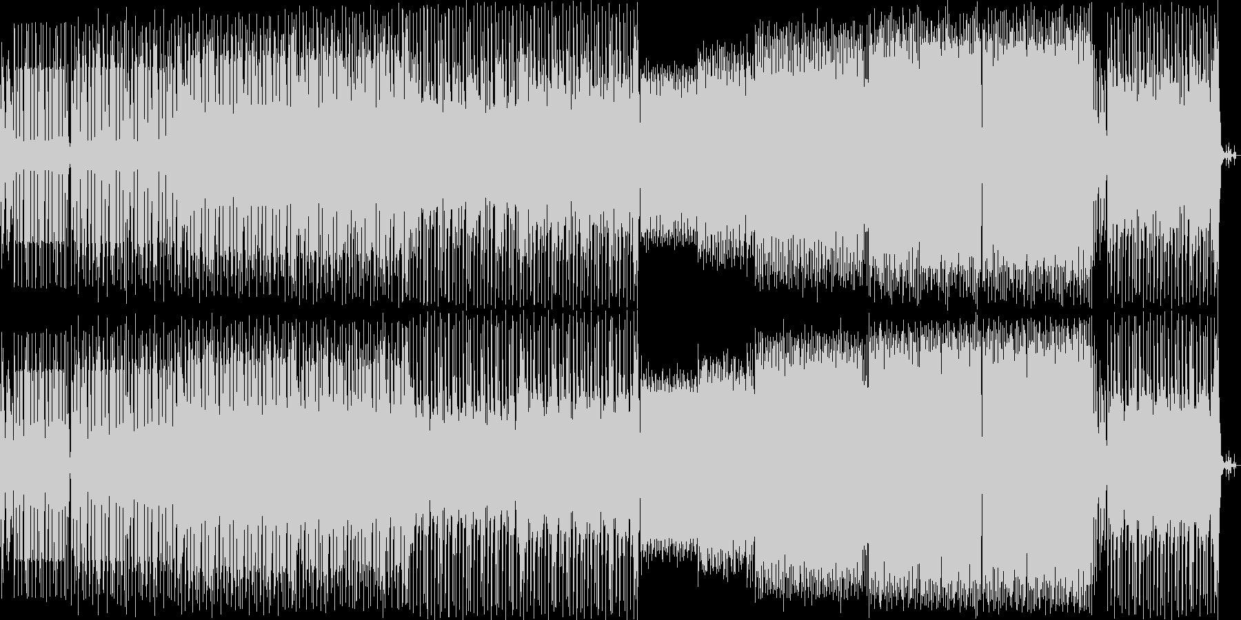 ジャジーなピアノが印象的な曲の未再生の波形