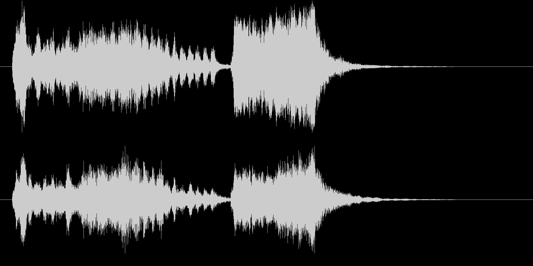 画面切り替え:魔法っぽいオーケストラの未再生の波形