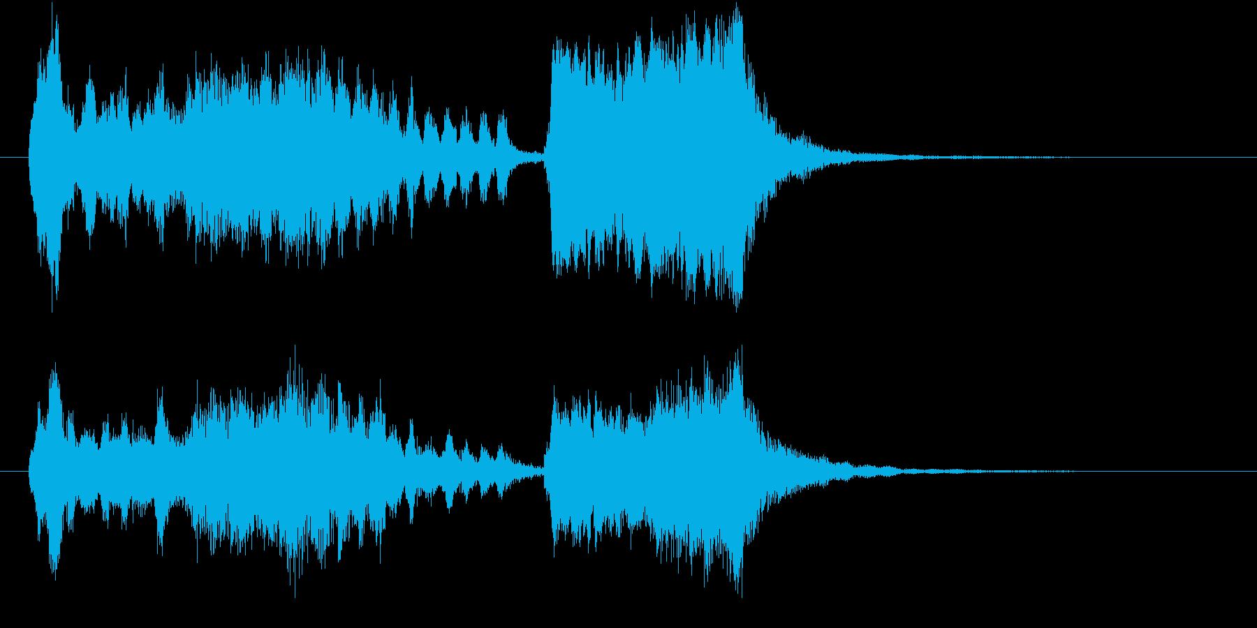 画面切り替え:魔法っぽいオーケストラの再生済みの波形