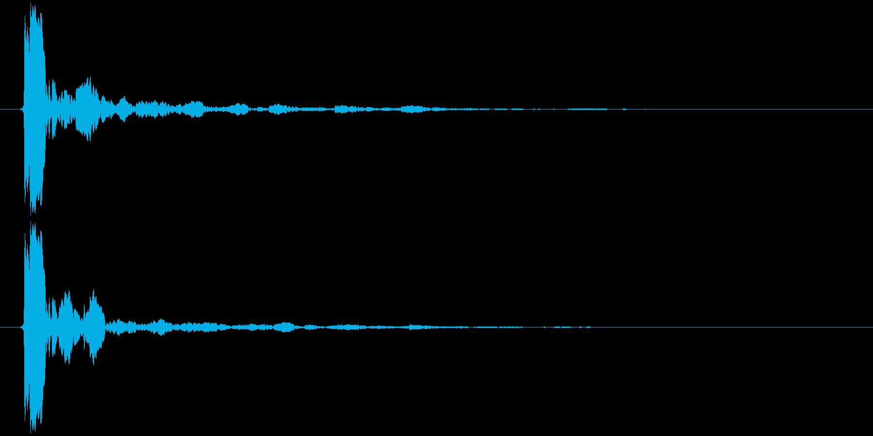 水滴 一滴 キッ(鋭く、高め)の再生済みの波形