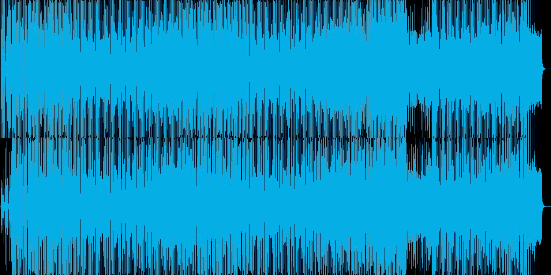 ユーロビート風のゆったりとしたポップスの再生済みの波形