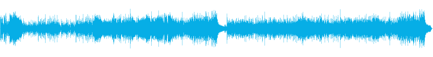 和風、琴尺八のオーケストラループ楽曲の再生済みの波形