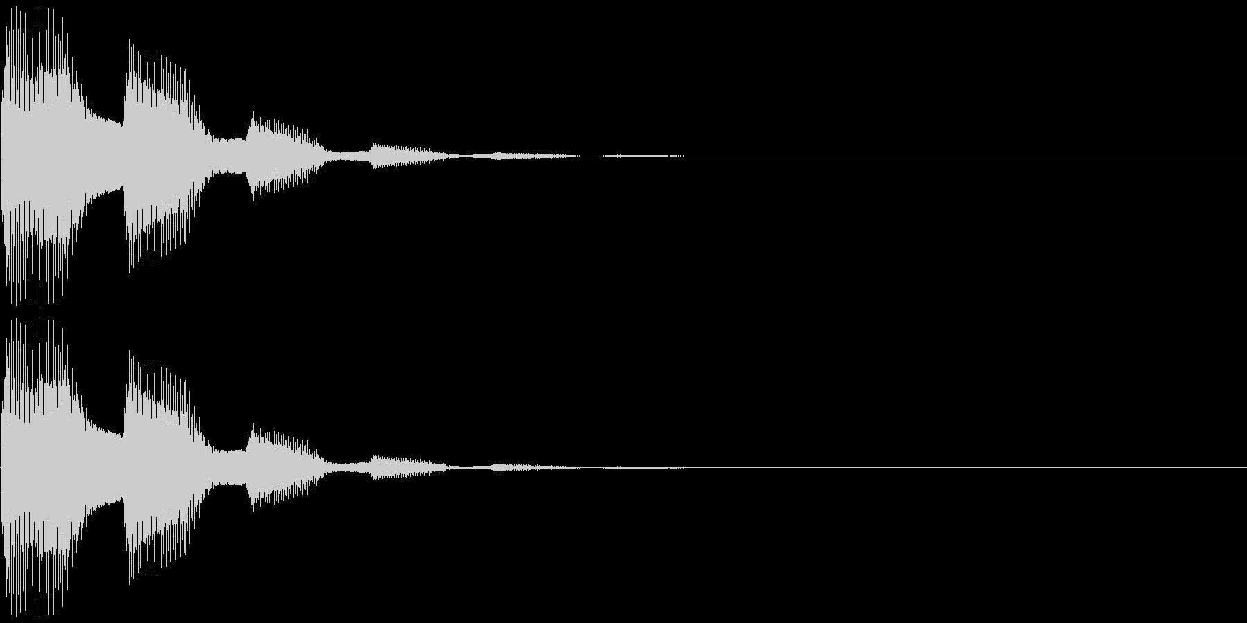 ピピン(表示、キャンセル、ボタン)の未再生の波形
