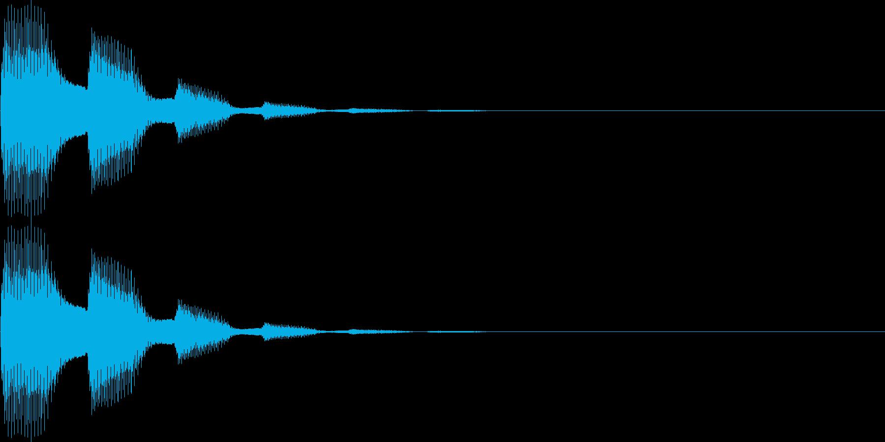 ピピン(表示、キャンセル、ボタン)の再生済みの波形