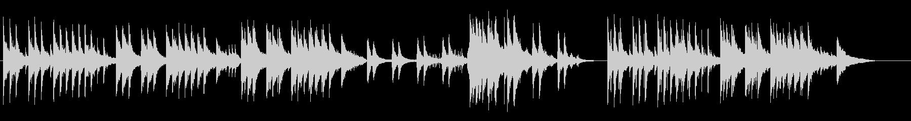 センチメンタルなピアノ+ダルシマーの未再生の波形