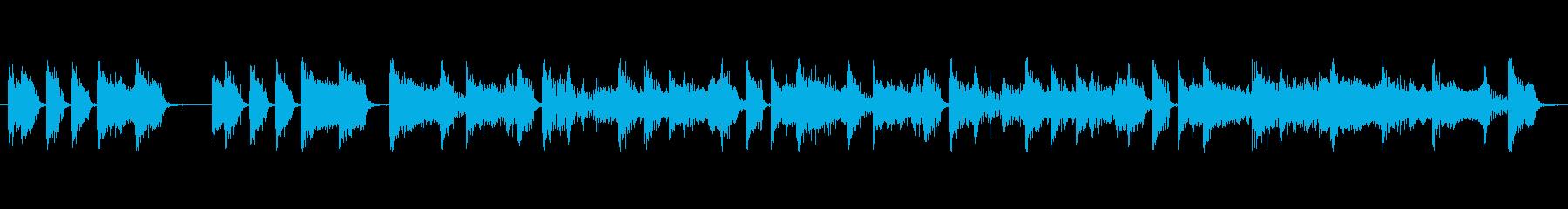 ニュース番組のオープニング風BGMのル…の再生済みの波形