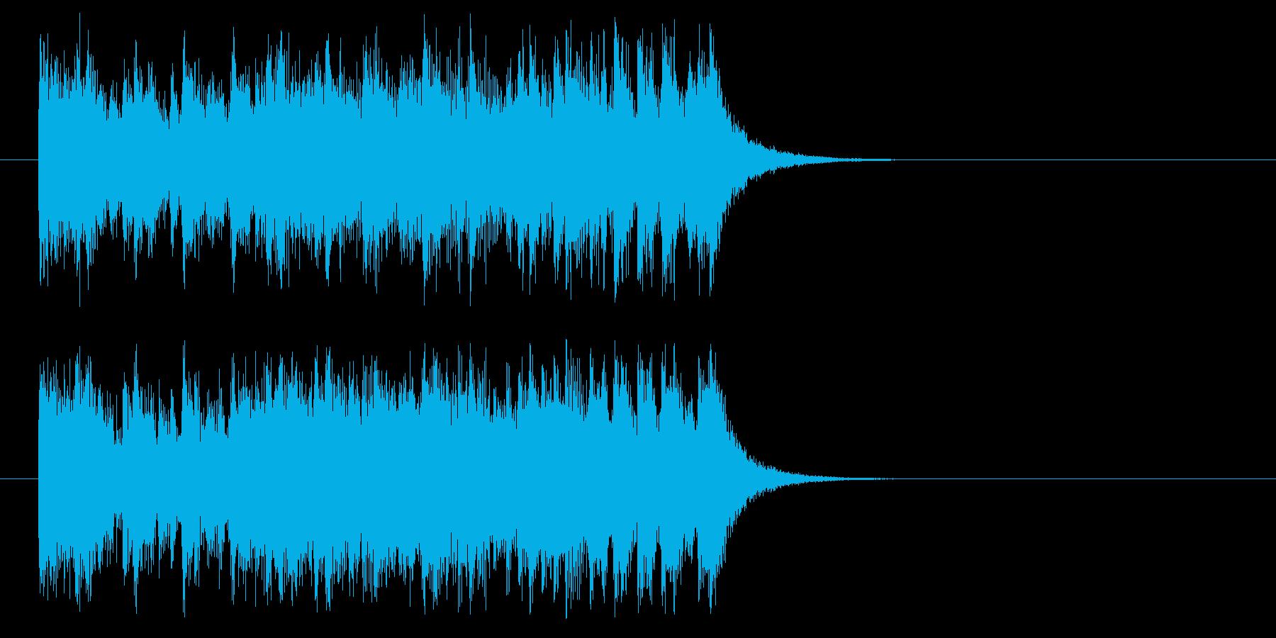 ジングル(ダンシング風)の再生済みの波形