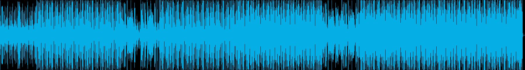 ファンキーなブレイクビーツトラックの再生済みの波形