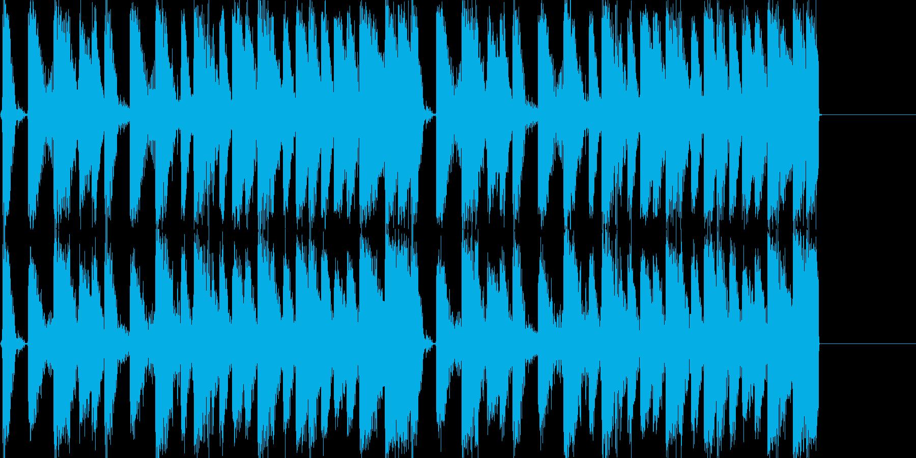 クラブトラック用のループ音源の再生済みの波形