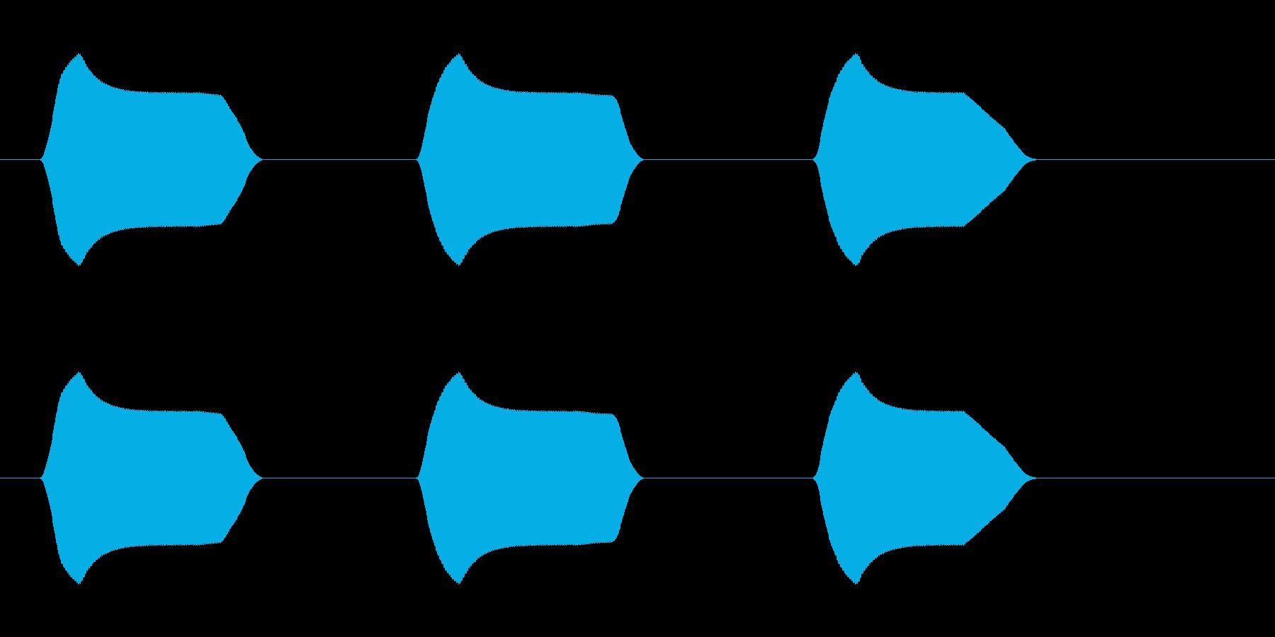 ピピピッ(高めの音)の再生済みの波形