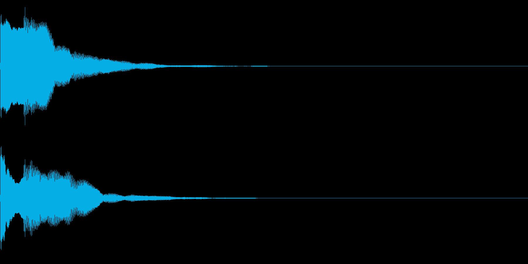 決定音48_シンセAGの再生済みの波形