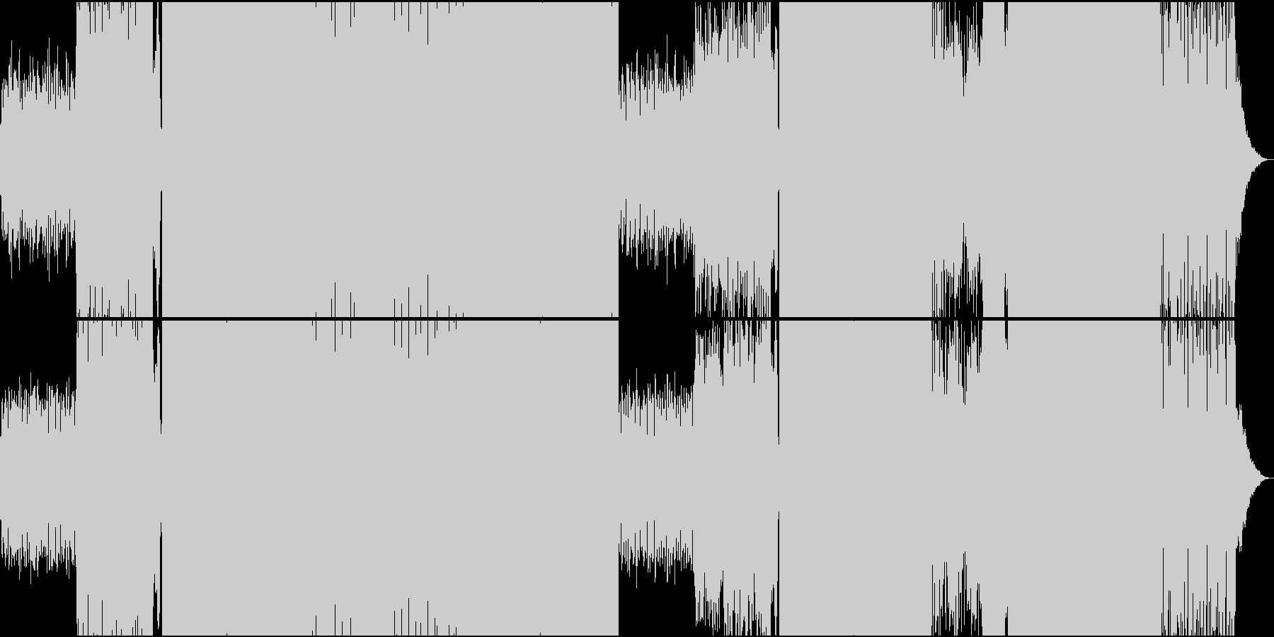 可愛らしい女性ボイスによる楽しいEDMの未再生の波形