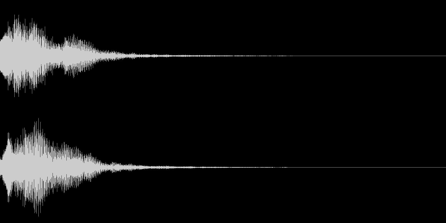 明るいテロップ音 ボタン音 決定音08bの未再生の波形