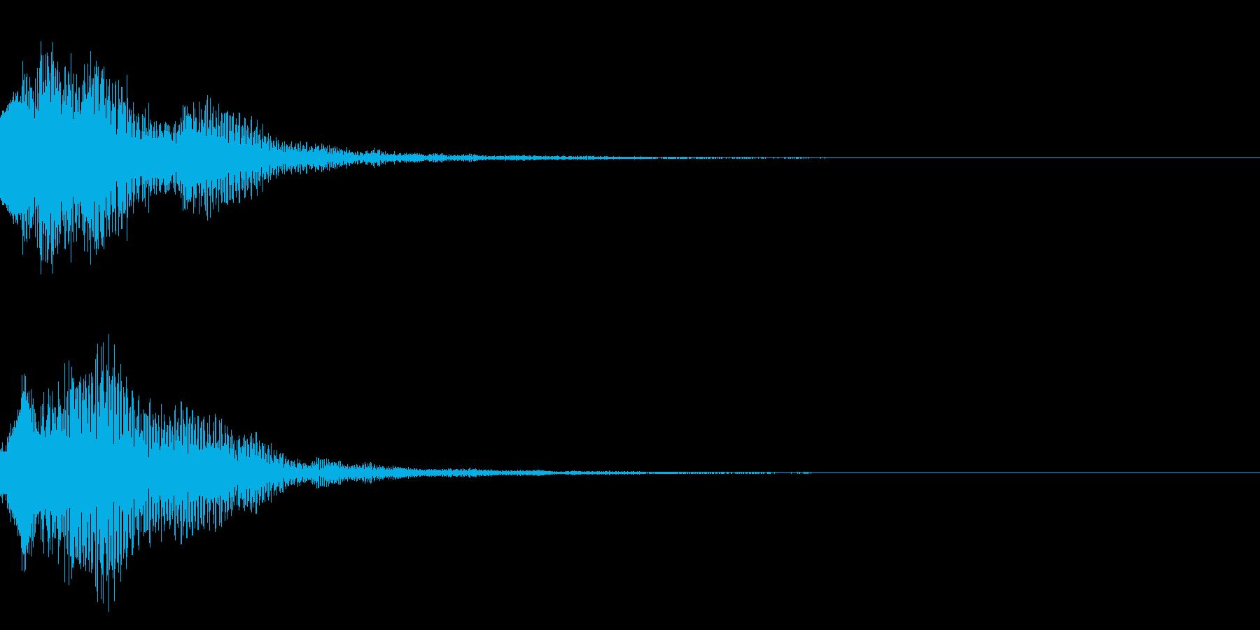 明るいテロップ音 ボタン音 決定音08bの再生済みの波形