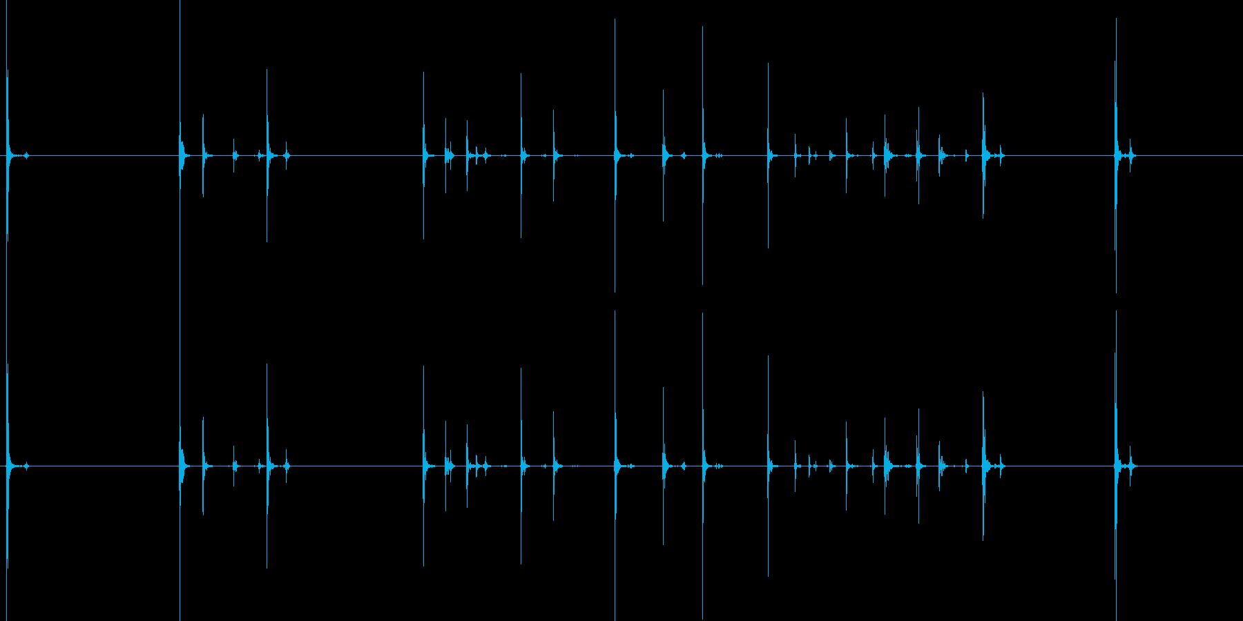 【キータイプ】デスクトップPCキーボードの再生済みの波形