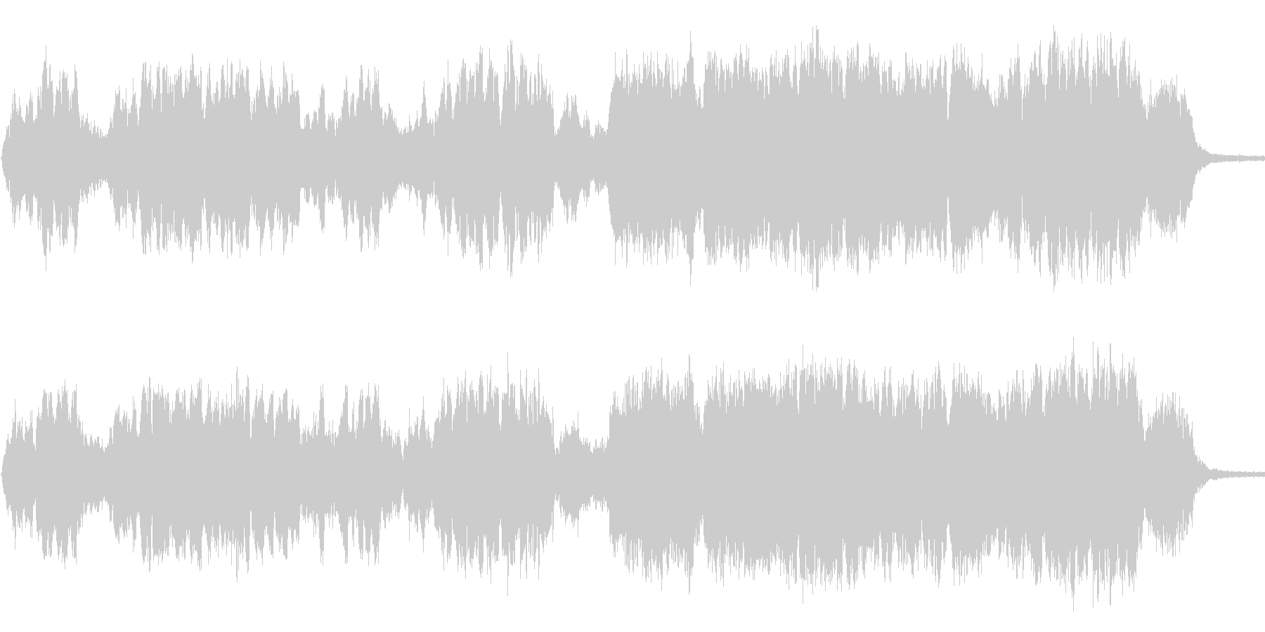 幻想的なボーカルとピアノ曲の未再生の波形