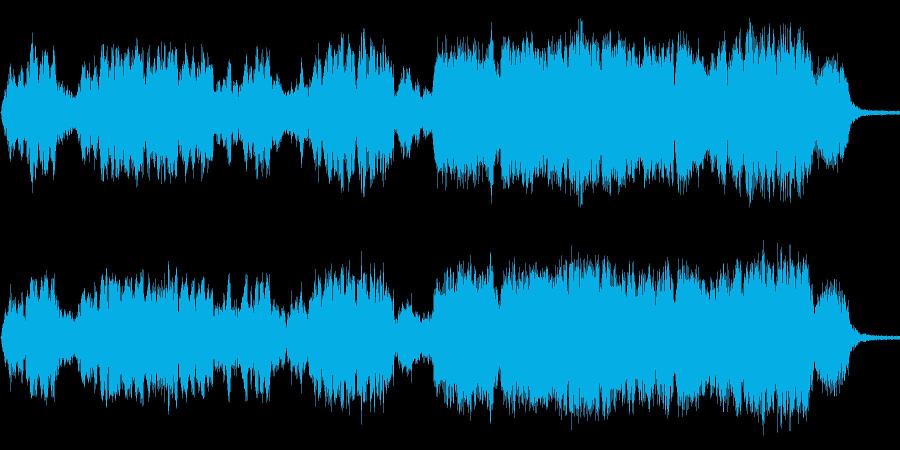 幻想的なボーカルとピアノ曲の再生済みの波形