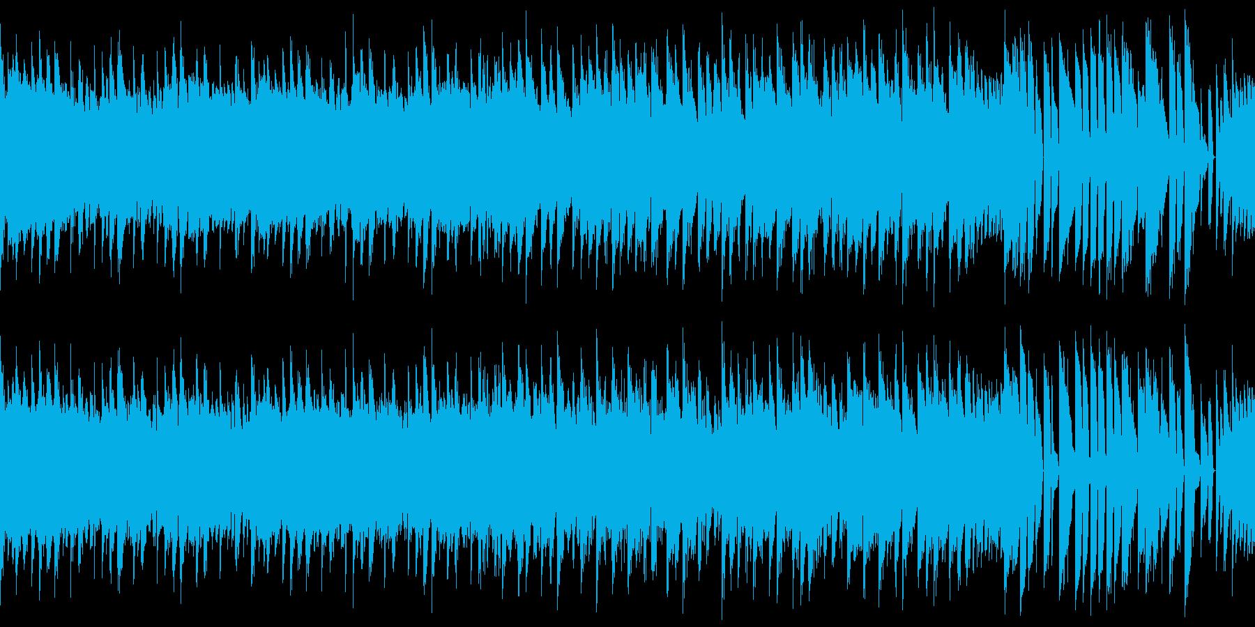 ループ・レトロゲーム風・闘志を感じる曲の再生済みの波形