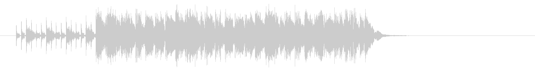 スピーディーでコミカルなポップジングルの未再生の波形