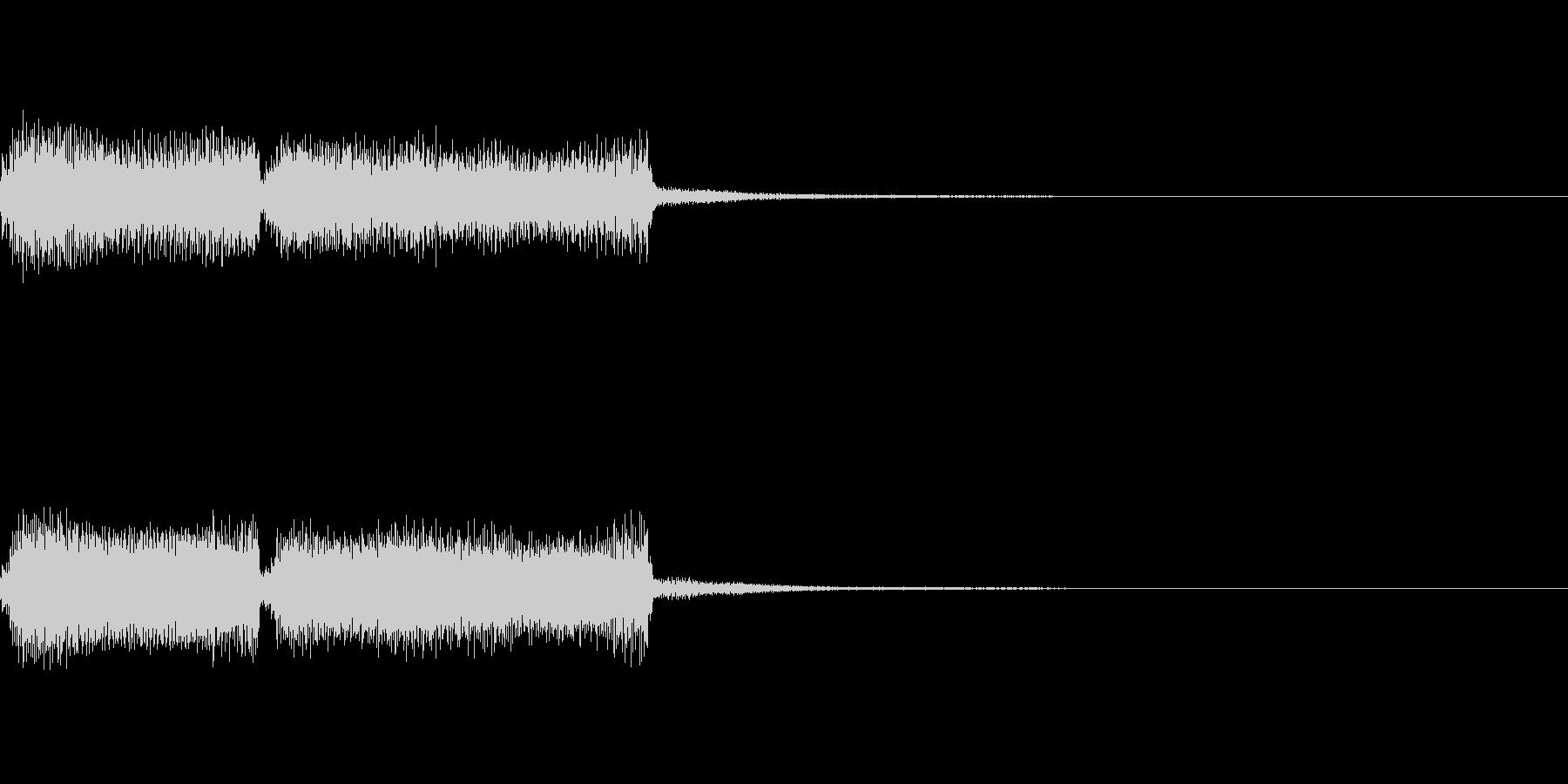 失敗した描写に合うようなパイプオルガンの未再生の波形