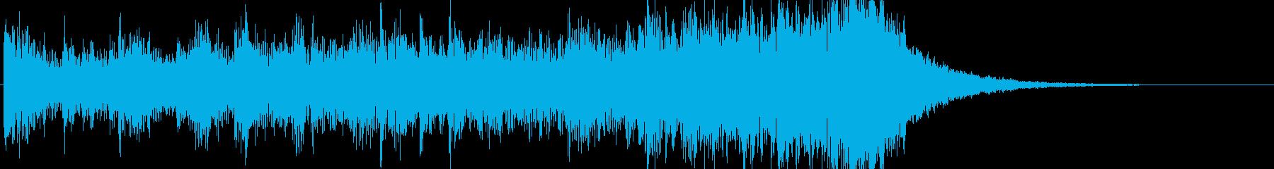 約8秒でシンバルが鳴るドラムロールの再生済みの波形