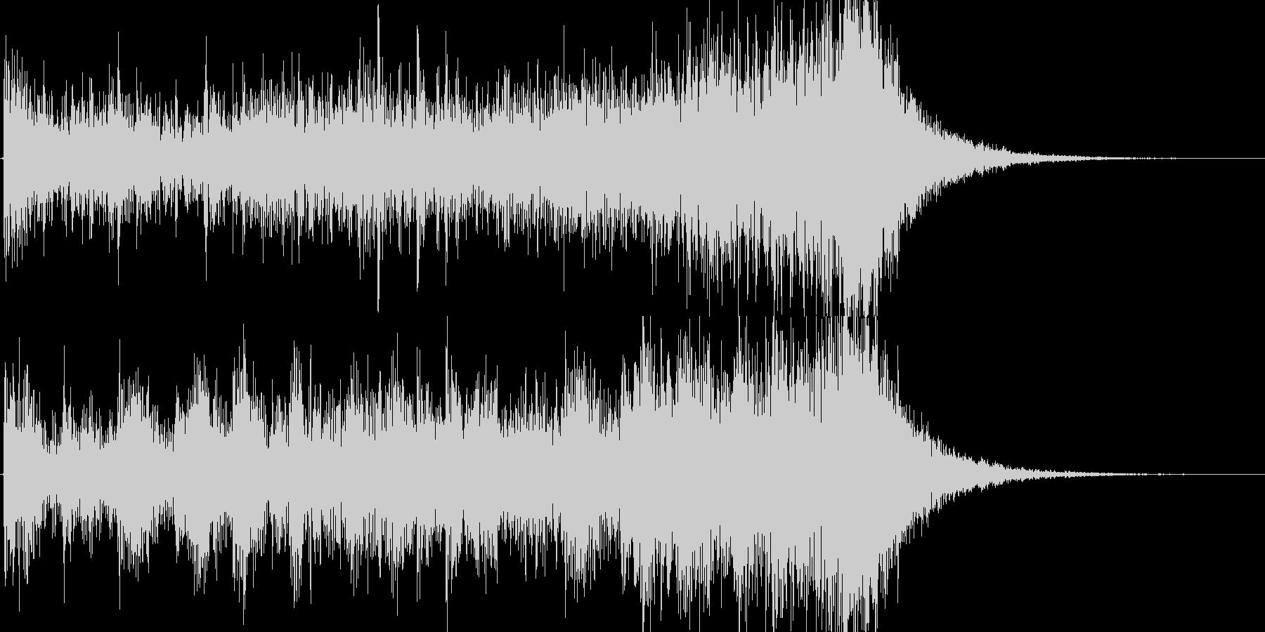 約8秒でシンバルが鳴るドラムロールの未再生の波形