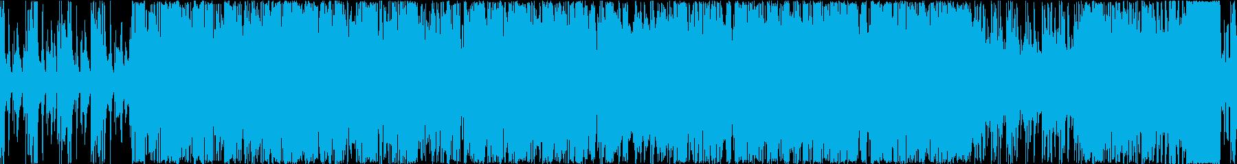 『ループ』雑談配信BGM明るいエレクトロの再生済みの波形