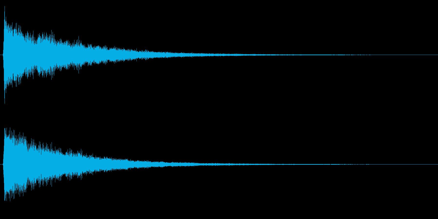 決定/シンセサイザー/スタート画面の再生済みの波形
