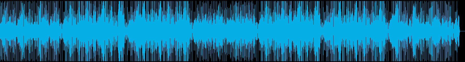 ドラムとベースがファンキーなBGMの再生済みの波形