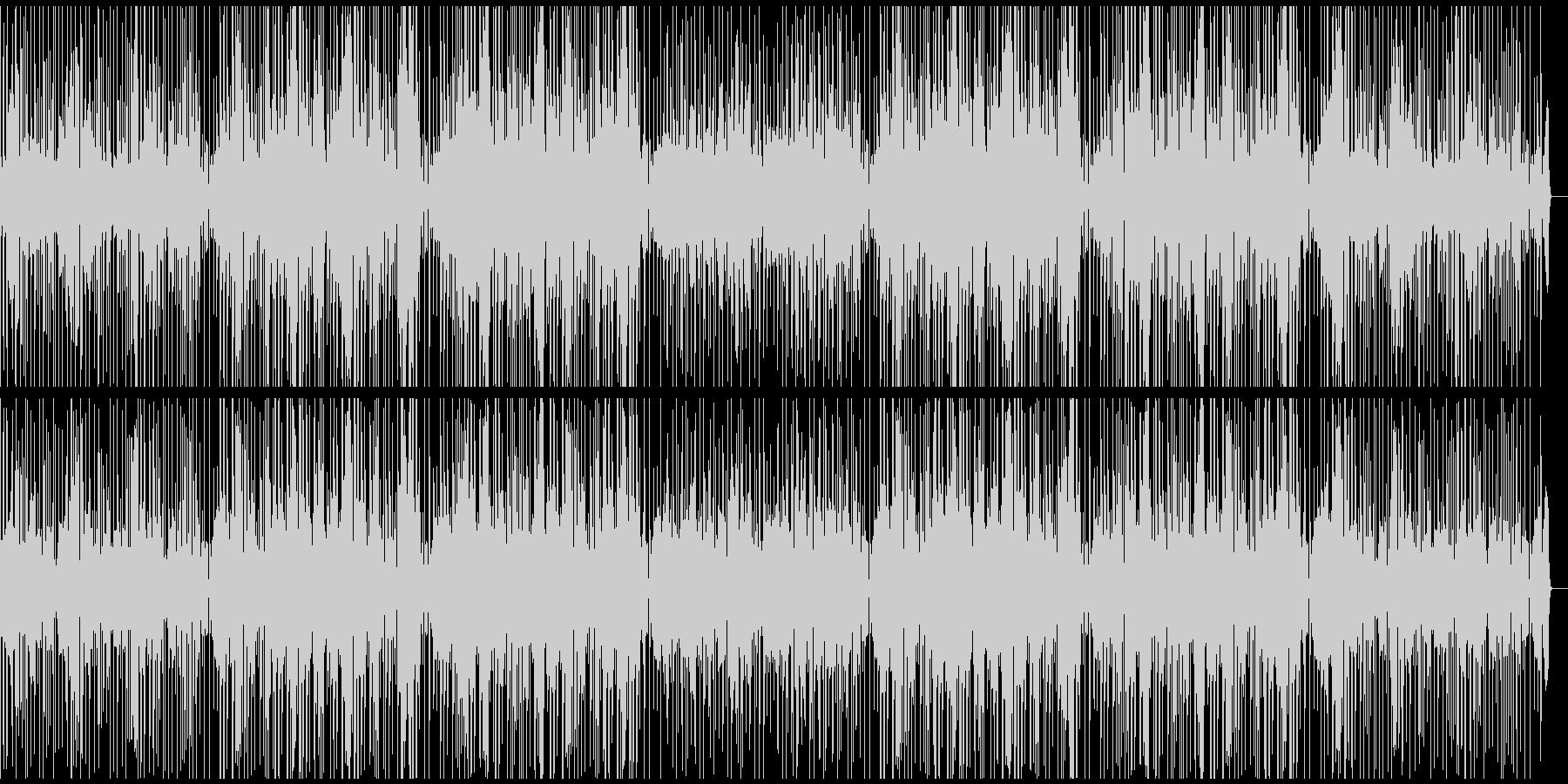 ドラムとベースがファンキーなBGMの未再生の波形