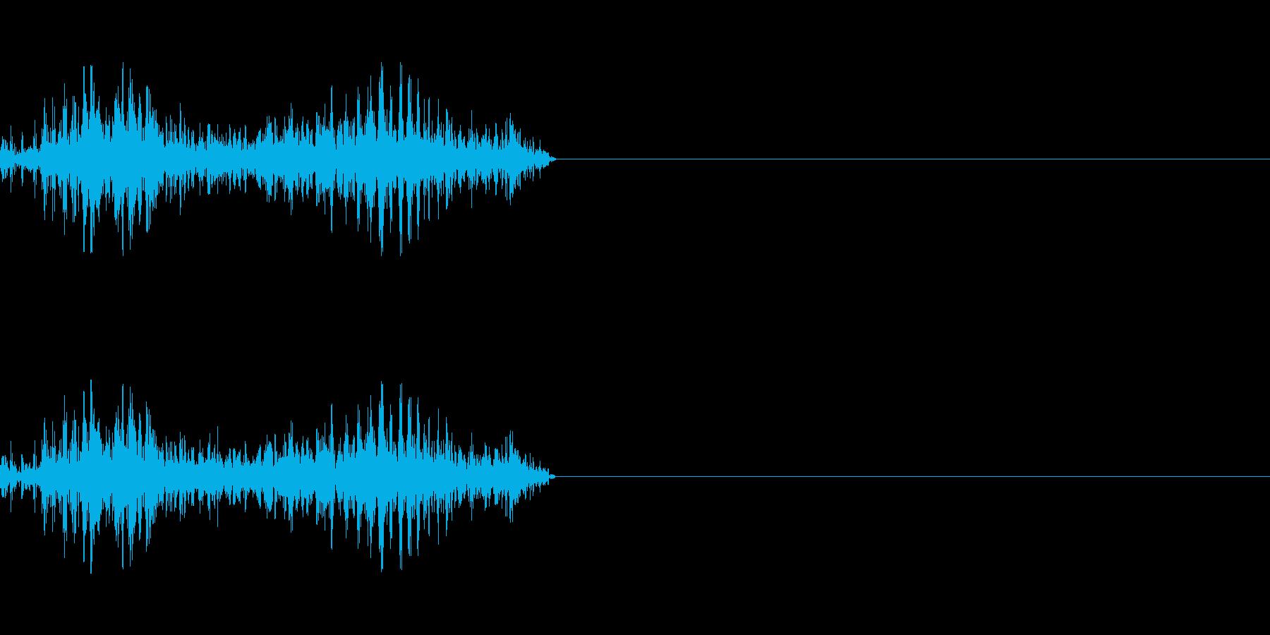 襲いかかる獣の再生済みの波形