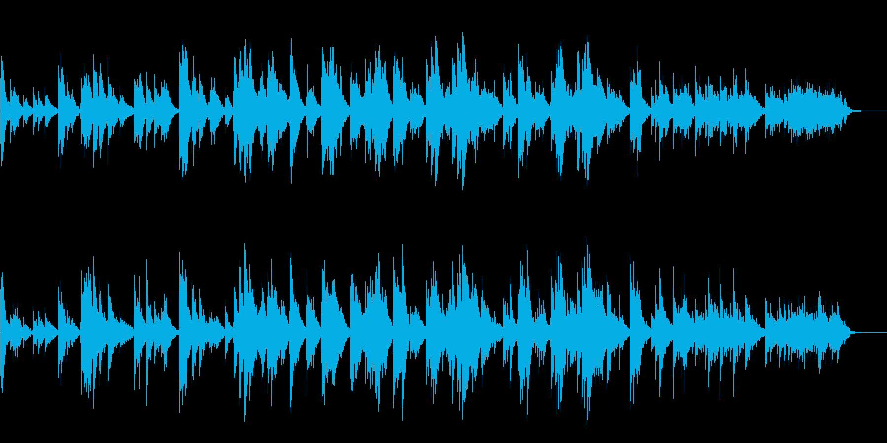 優しさに満ちたネイチャー系サウンドの再生済みの波形