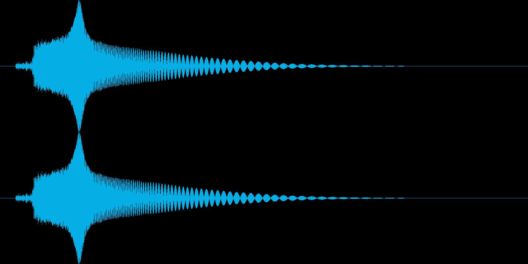 ピュン (レトロな銃の発射音)の再生済みの波形