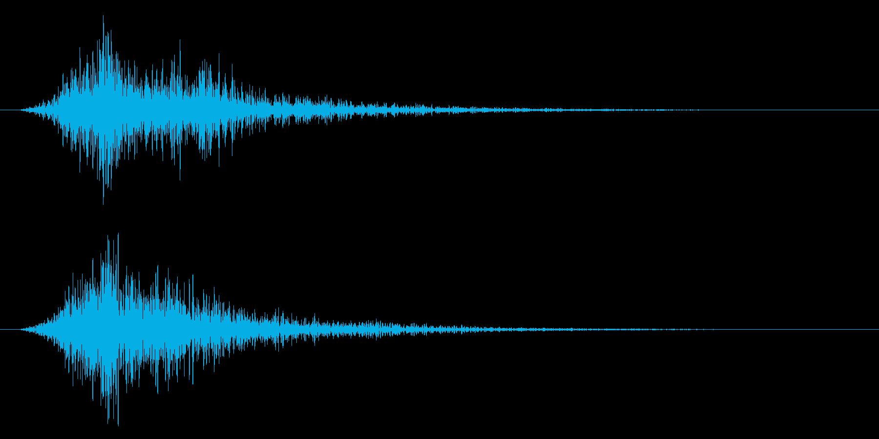 スパン!(スネア系)の再生済みの波形