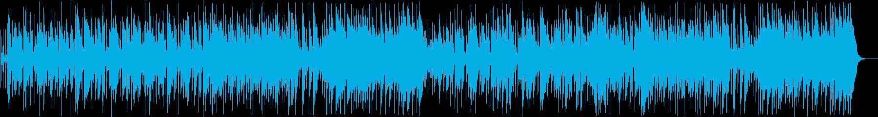 愉快なインフォメーションミュージックの再生済みの波形