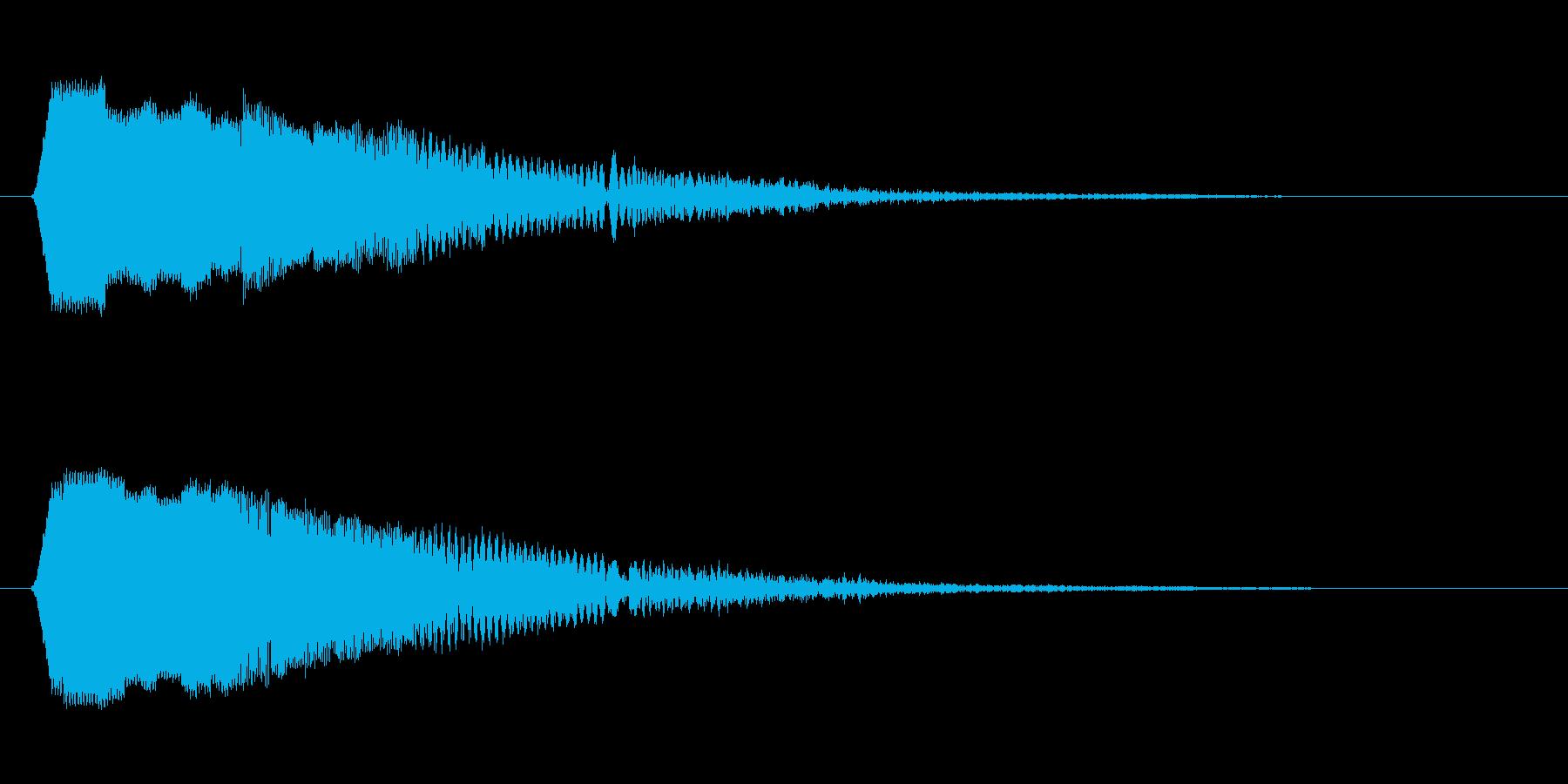 ピロン(クリック音)の再生済みの波形