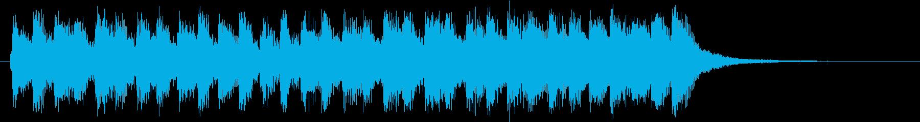 ハロウィンの怪しい雰囲気のオーケストラの再生済みの波形