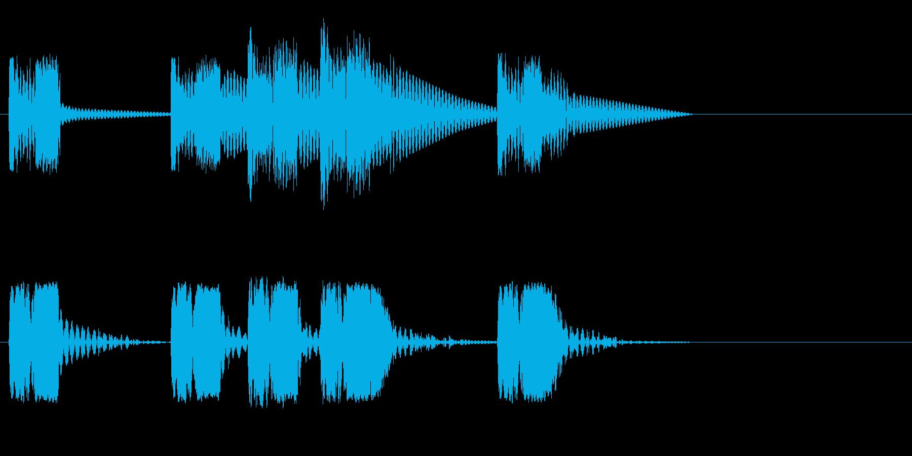 ロボットサウンド 機械音11の再生済みの波形