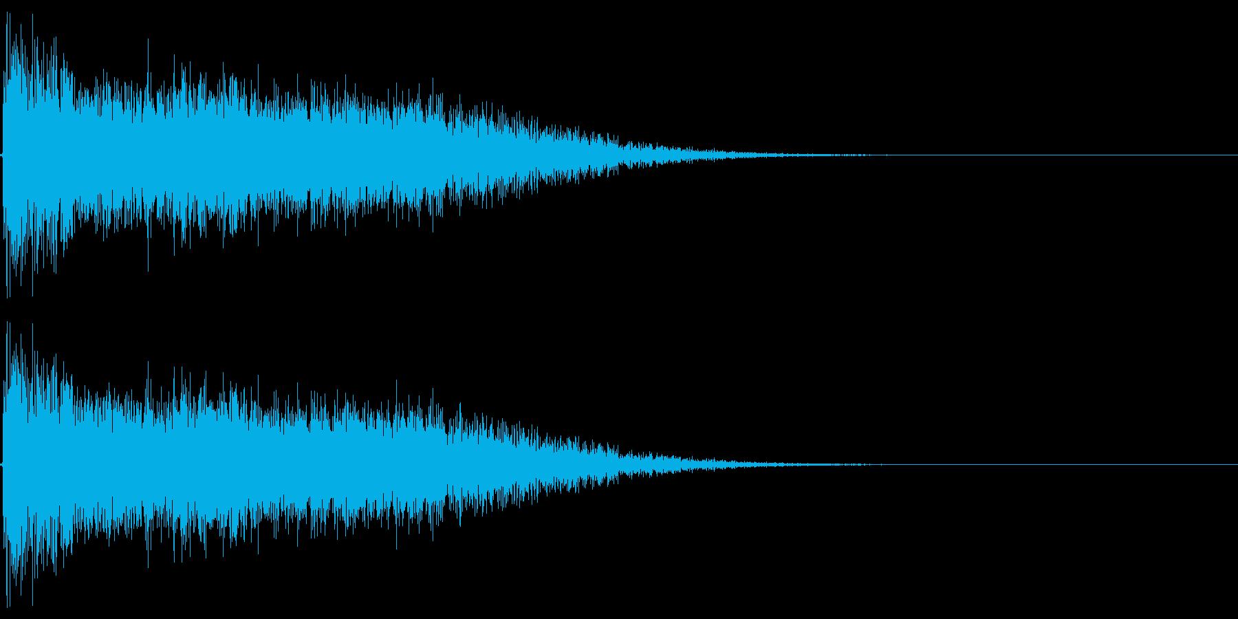 レーザーサーベルがぶつかり合うイメージの再生済みの波形