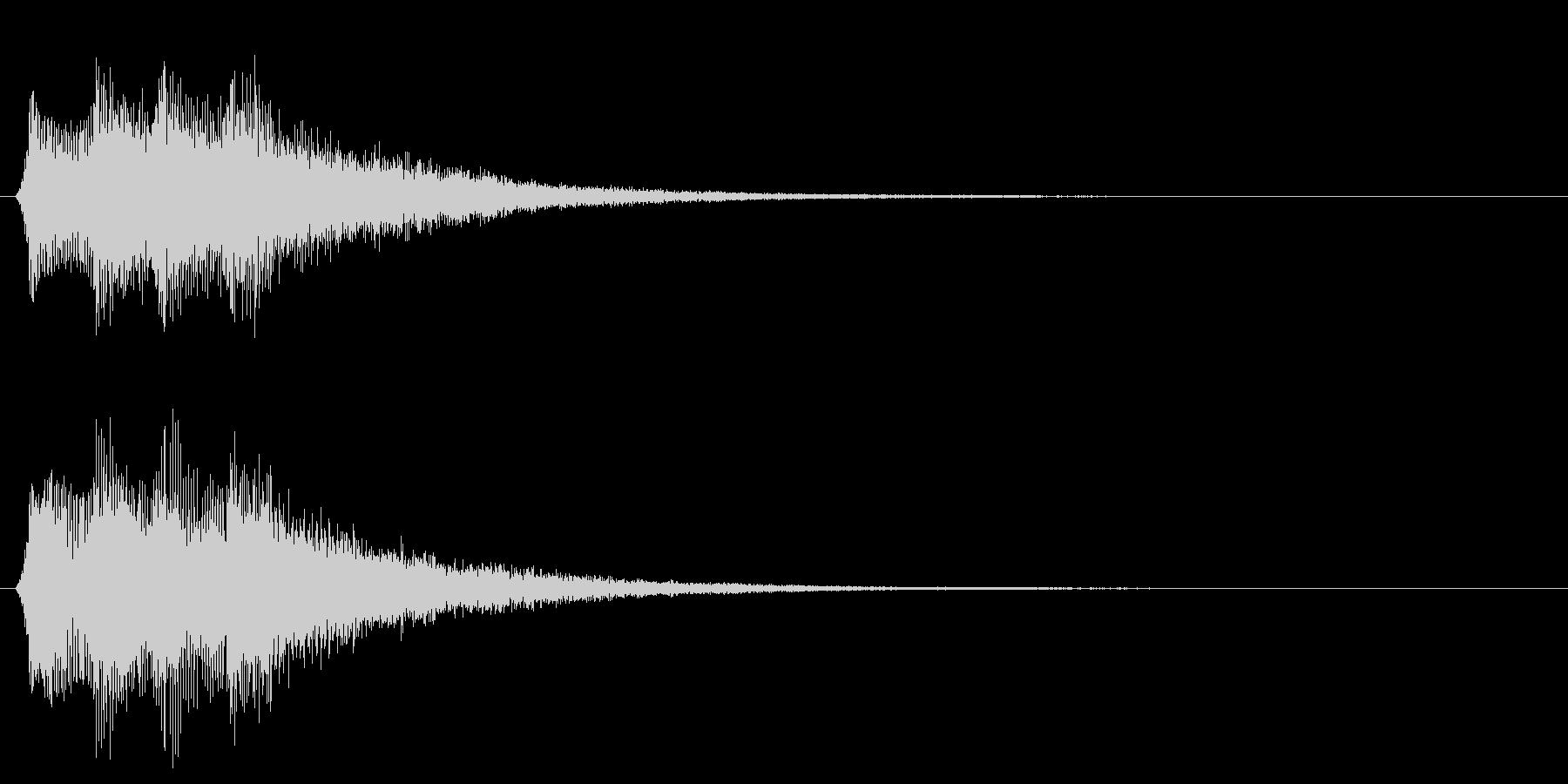 決定音 セレクト スタート 選択音の未再生の波形
