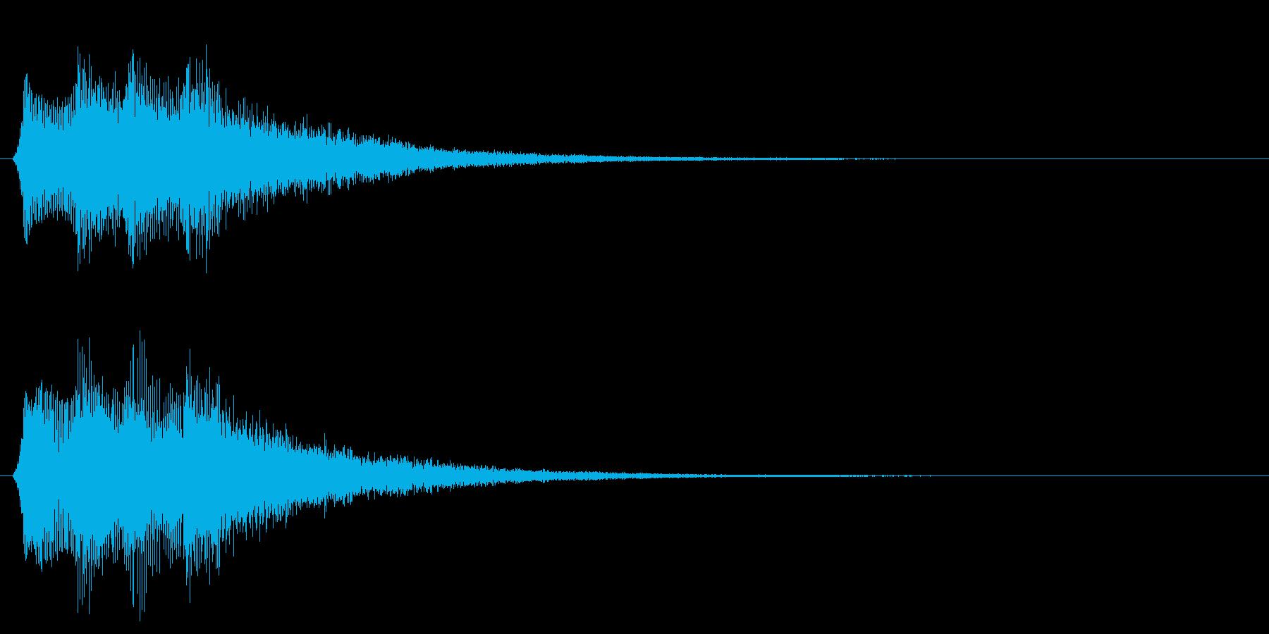 決定音 セレクト スタート 選択音の再生済みの波形