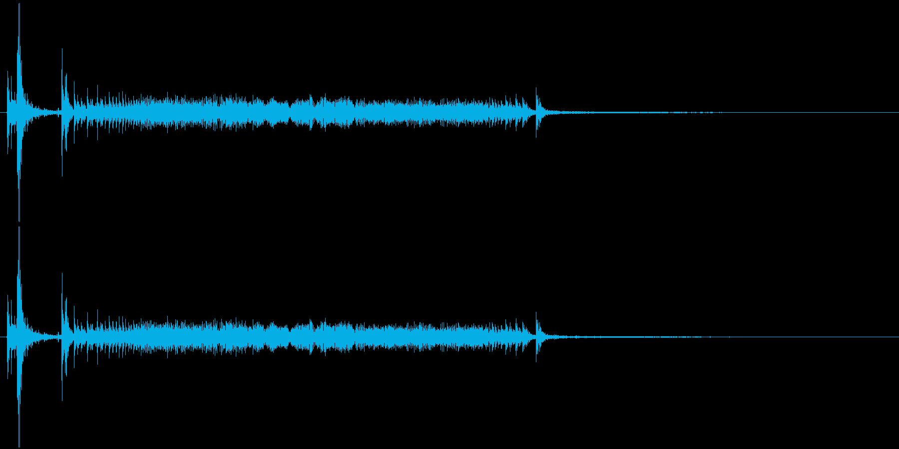鉄製の扉が開く音-3の再生済みの波形