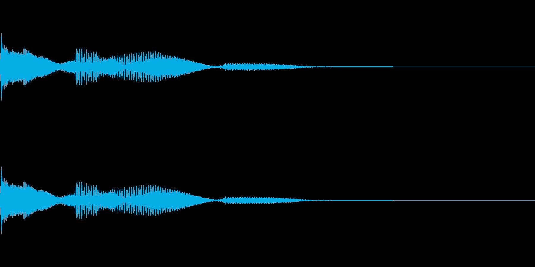 ピロロロロ、トゥルルルル、デリリリ音の再生済みの波形