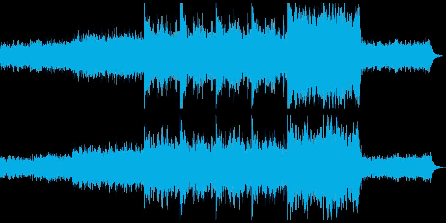 綺麗なビブラフォンに不安な雰囲気のホラーの再生済みの波形