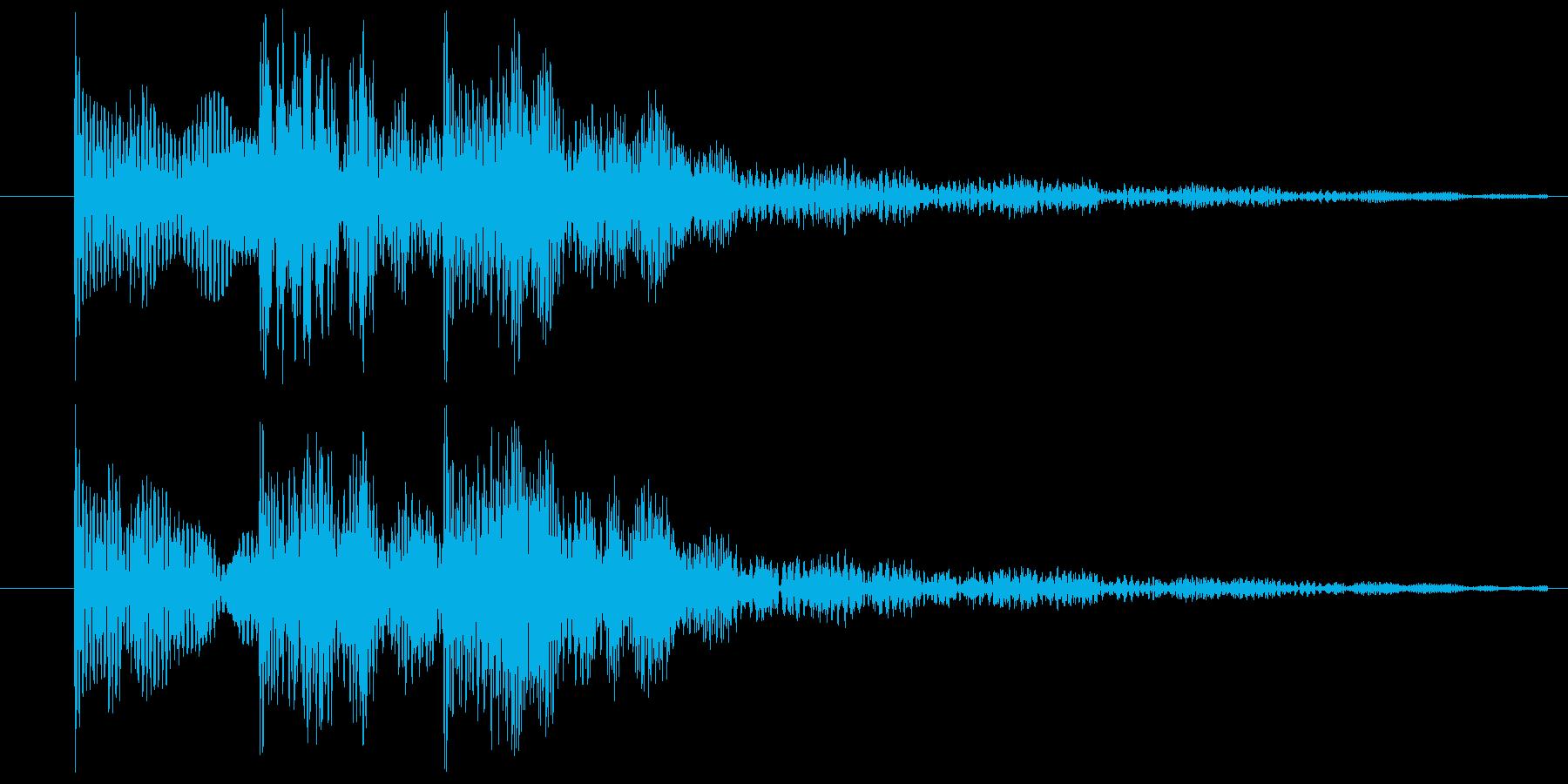 ゲームの決定音(2)ですの再生済みの波形
