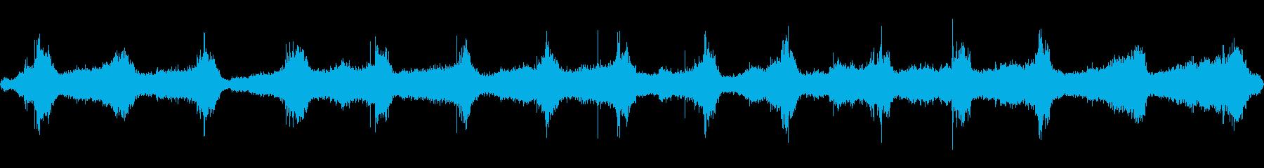 嵐の海の音の再生済みの波形