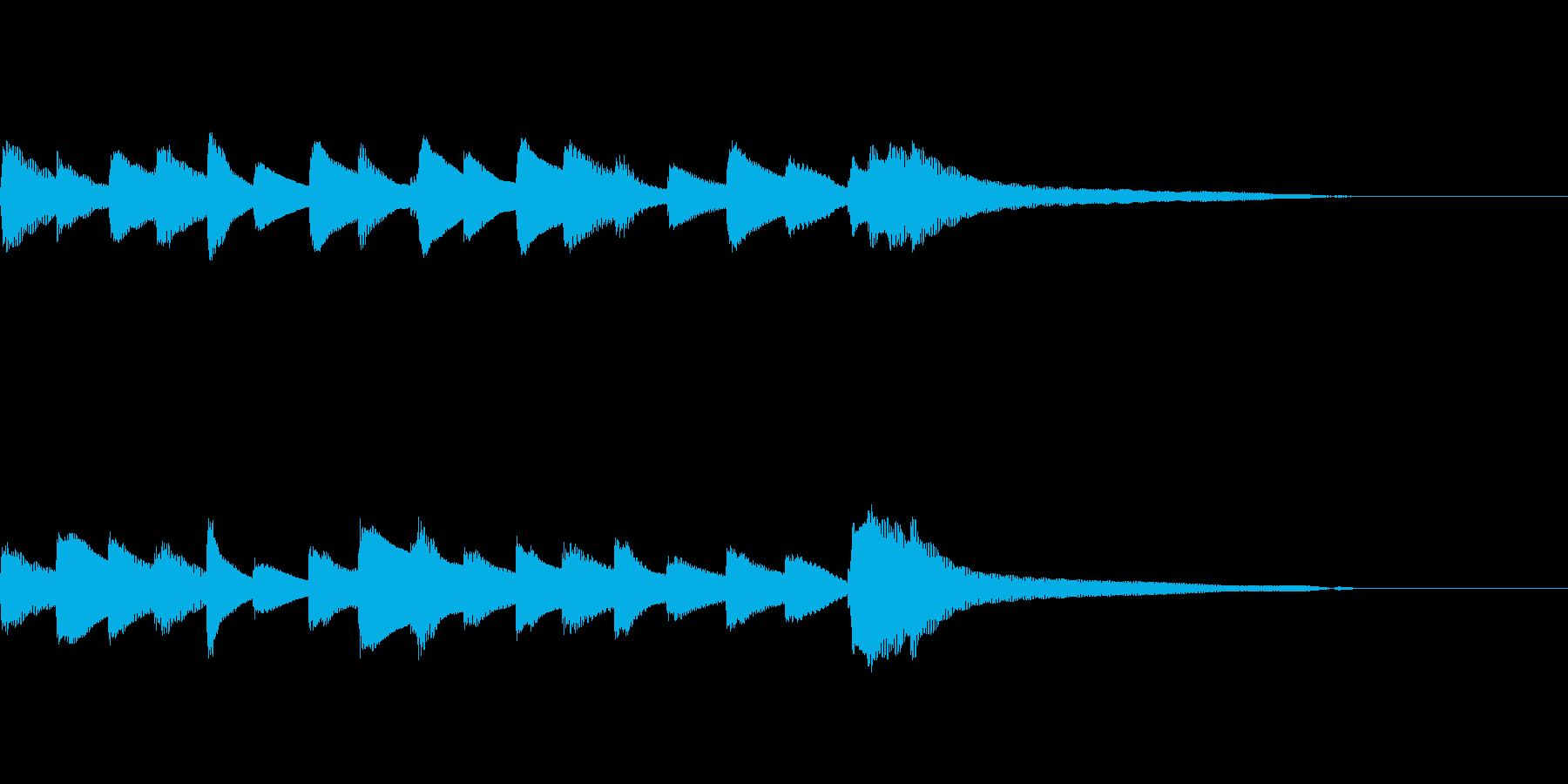 やさしいピアノ・サウンドロゴ8の再生済みの波形