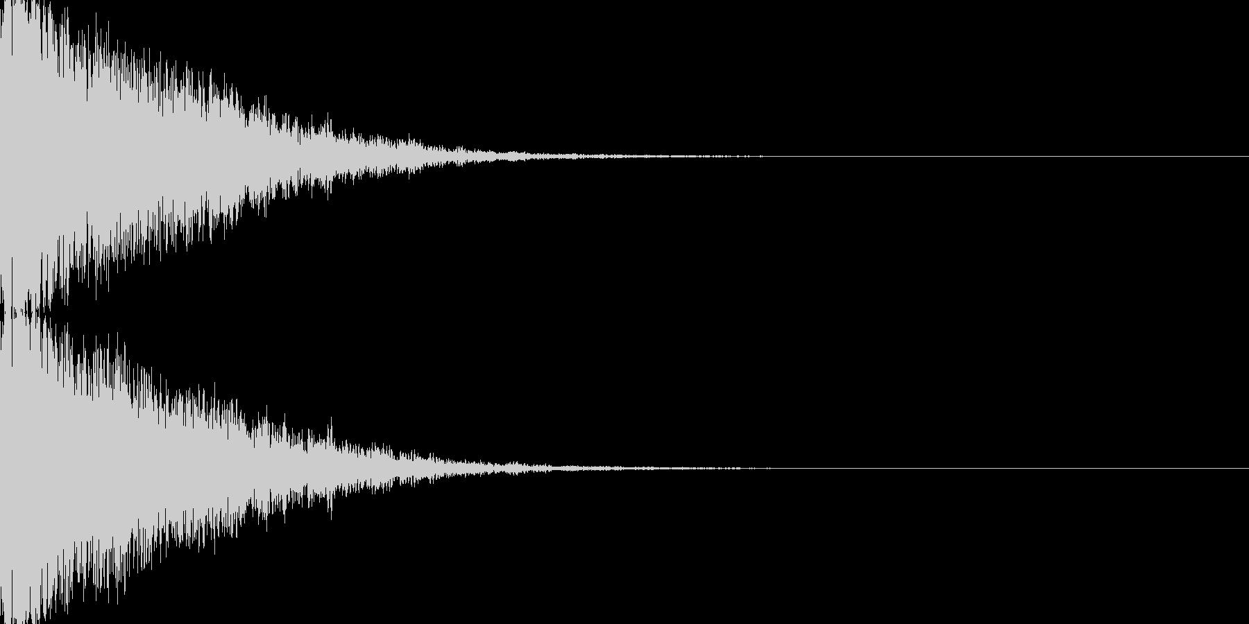 鉄系『ガーン』の未再生の波形